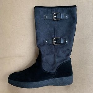 "Coach ""Tinah"" Cold Weather Black Boots"